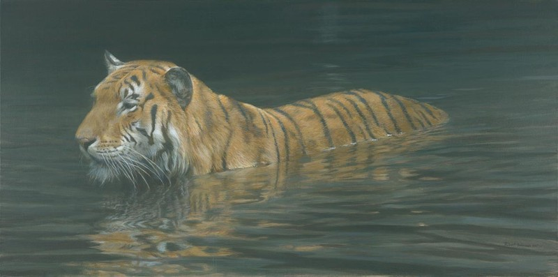 Robert Bateman River Ford – Tiger
