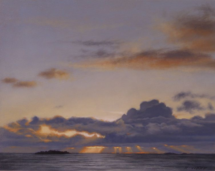Ray Ward Blue Clouds and Sunbeams