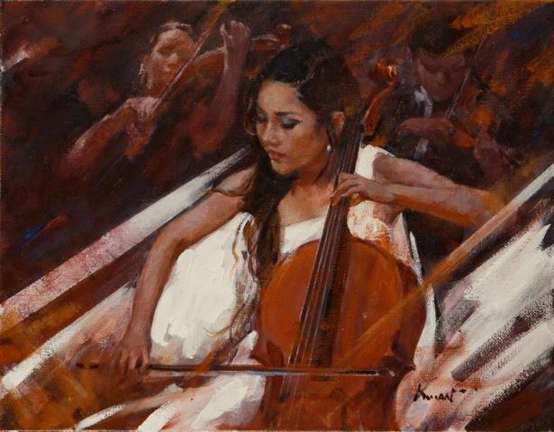 Clement Kwan Cellist in White