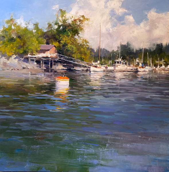 Deborah Tilby Little Island in the Afternoon