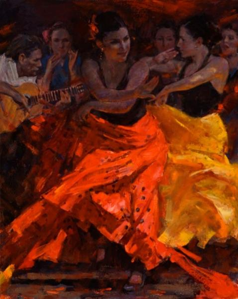 Clement Kwan Flamenco Red, Yellow, Blue