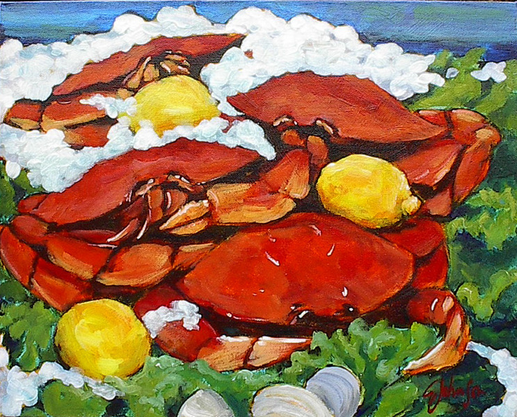 Gail Johnson Dungeness Crabs