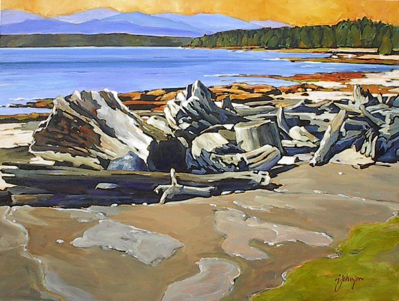 Gail Johnson Sandstone and Driftwood Shores