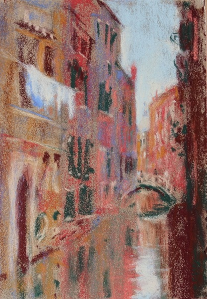 Gail Sibley Venice Canal with Laundry