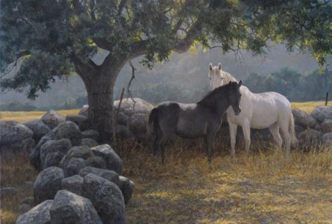 Robert Bateman In the Field - Mare and Foal
