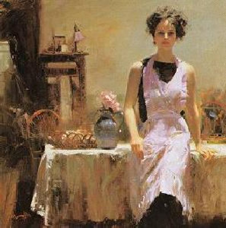 Pino Daeni Evening Thoughts