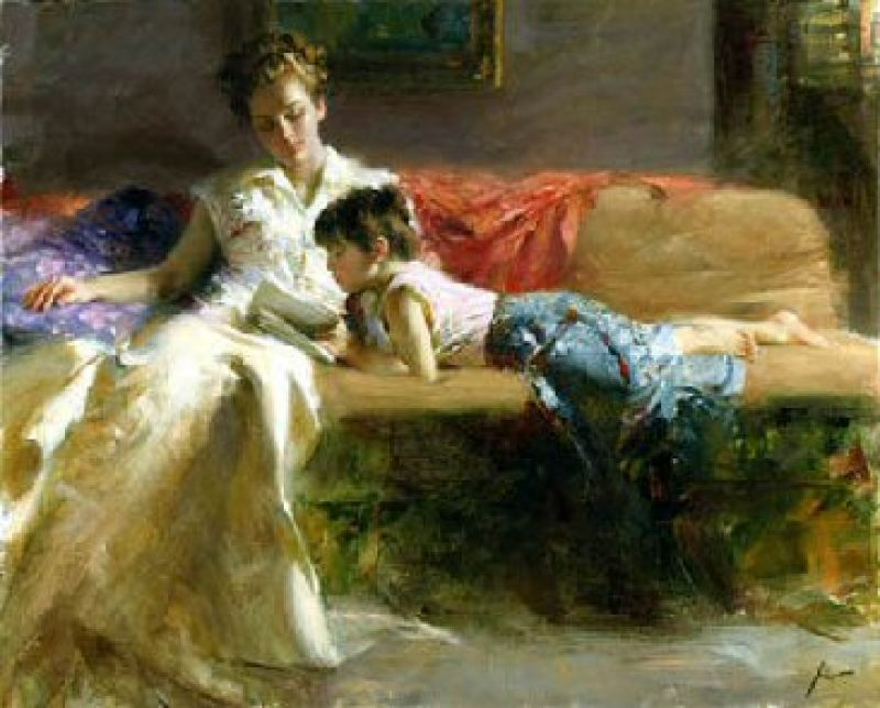 Pino Daeni Late Night Reading