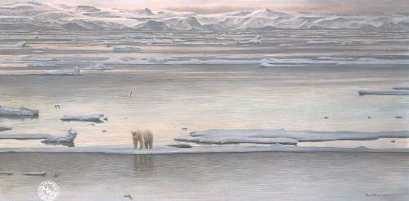 Robert Bateman Arctic Ice - Polar Bear