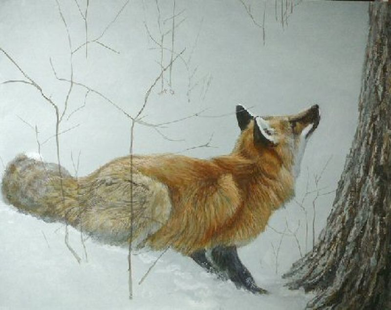 Robert Bateman Game Over - Fox and Maple