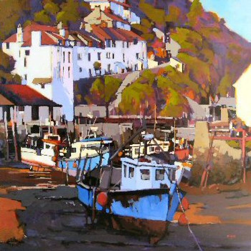 Mike Svob Afternoon Light - Polperro Harbour