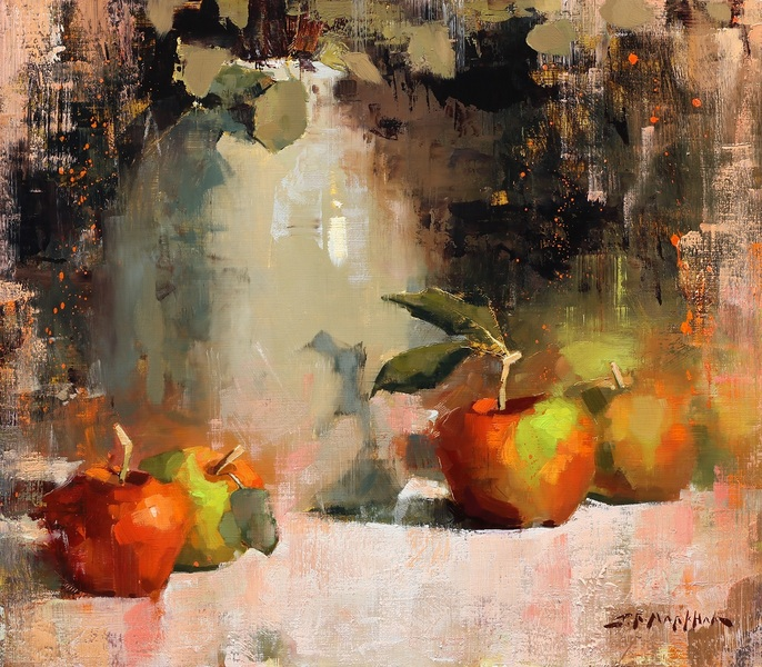Apples and Ceramic Jug by Jerry Markham