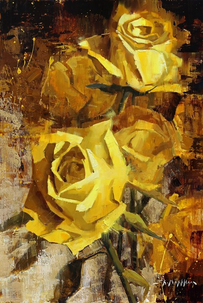 Golden Roses by Jerry Markham