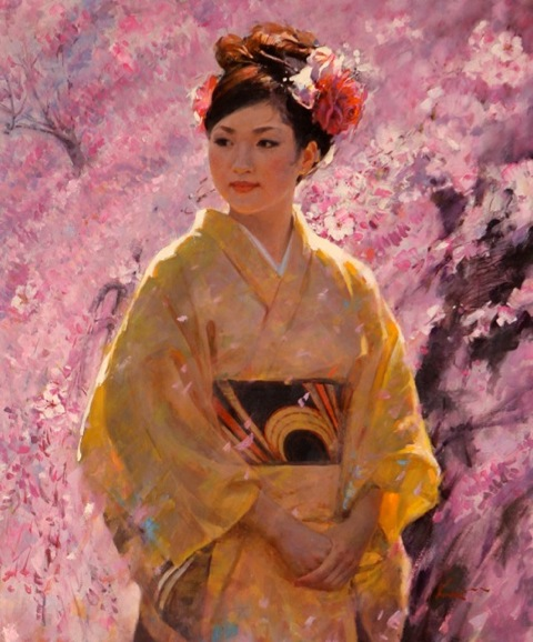 Clement Kwan Lady with Kimono