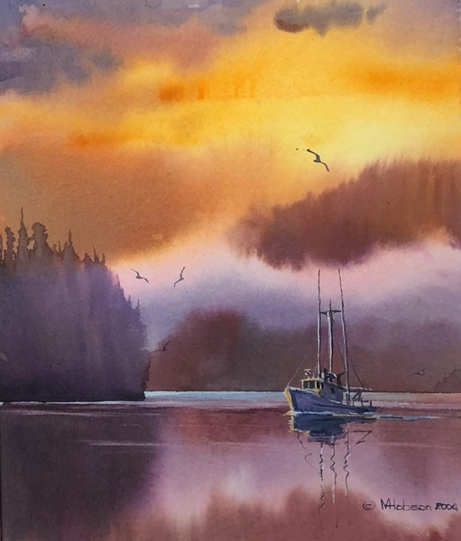Mark Hobson Fish Boat in Pink Mist
