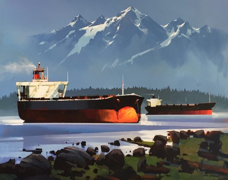Michael O'Toole Cargo Ships - Puget Sound
