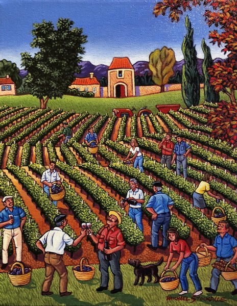 Michael Stockdale Harvesting the Grapes