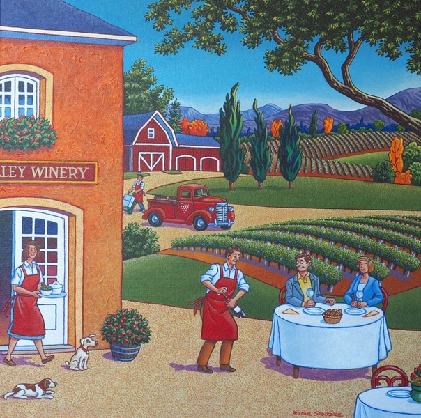 Lunch at the Winery by Michael Stockdale
