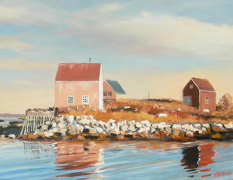 Pieter Molenaar Early Morning Middle Point Cove Nova Scotia