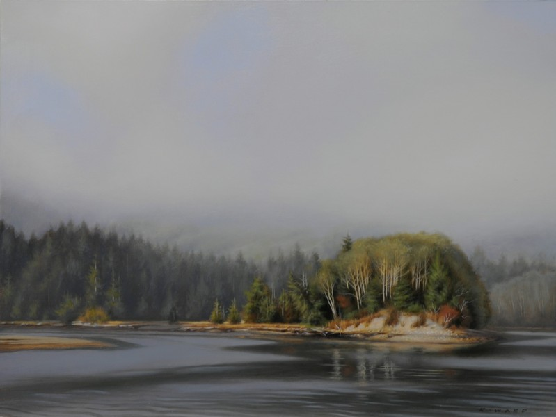 Ray Ward Lifting Fog, Gordon River