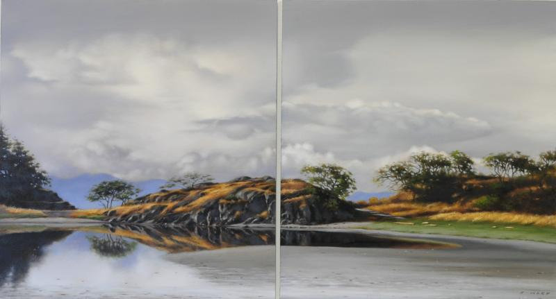 Ray Ward Storm Break, Piper's Lagoon (Diptych)