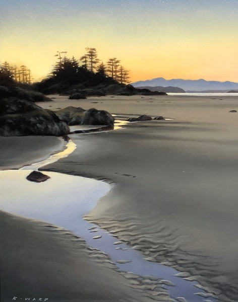 Ray Ward West Coast Beach at Dusk, Study