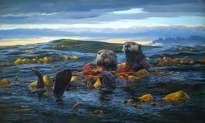 Mark Hobson Sea Otters: Breakfast On The High Seas