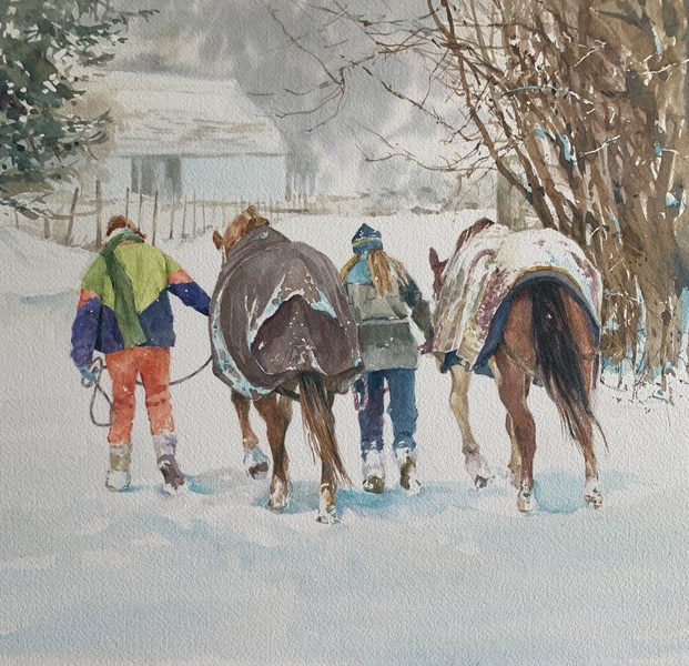 A Country Winter by Sheena Lott