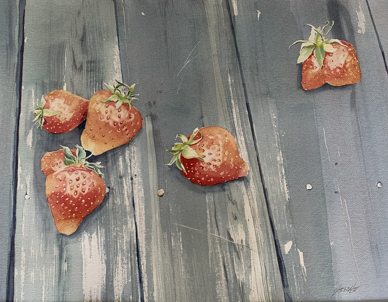 Strawberry Still Life by Sheena Lott