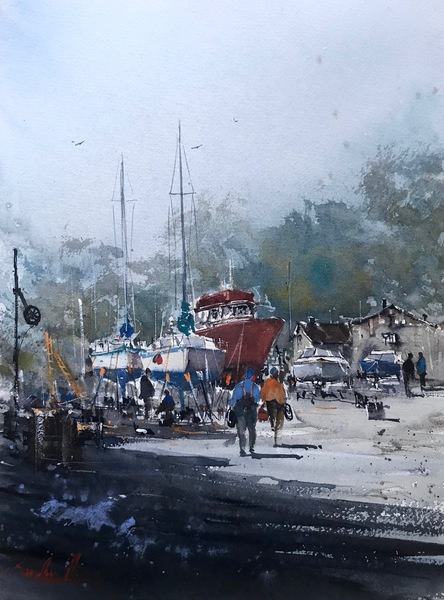 Ship Yard, Sooke Road I by Sandhu Singh