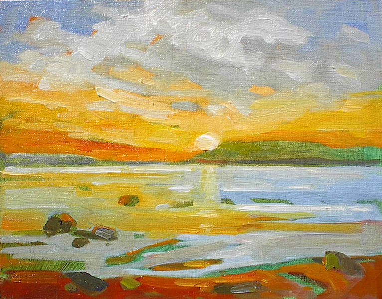 West Coast Sunset Study by Gail Johnson