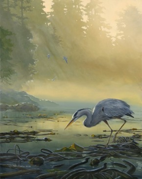 Mark z Hobson Great Blue Heron: A Delicate Balance