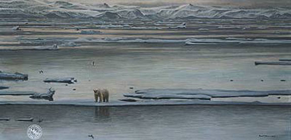 Robert z Bateman Arctic Ice Polar Bear