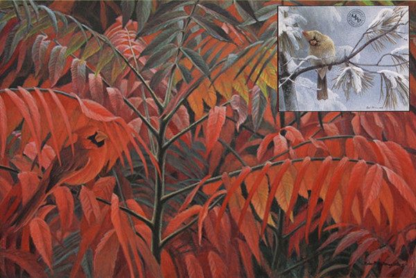 Robert z Bateman Cardinal and Sumac – Companion Edition