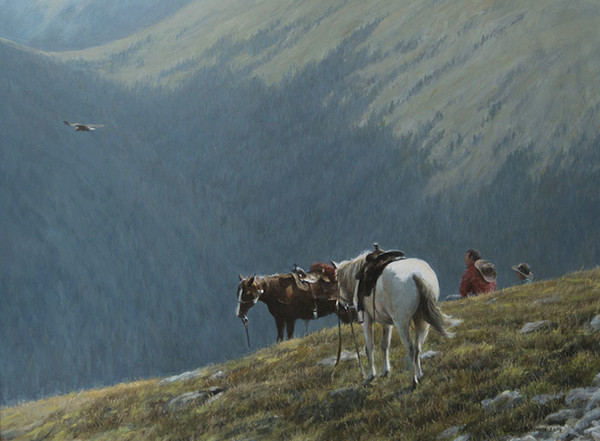 Robert z Bateman Cowboys and Golden Eagle