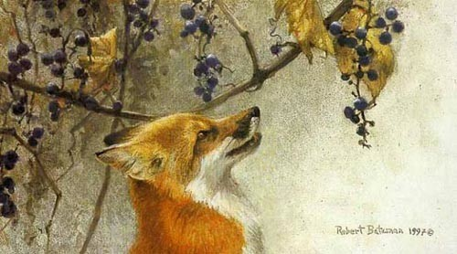 Robert z Bateman Fox and Grapes