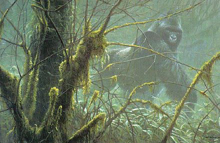 Robert z Bateman Intrusion – Mountain Gorilla
