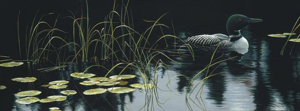 Robert z Bateman Lily Pads and Loon