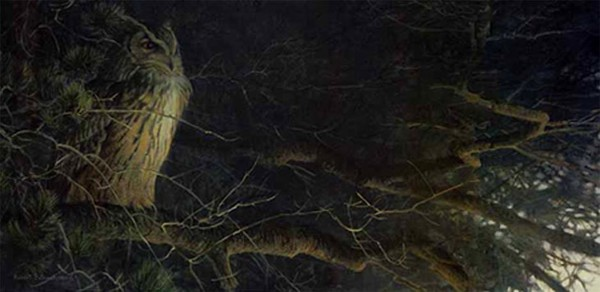 Robert z Bateman Night Fall Eagle Owl