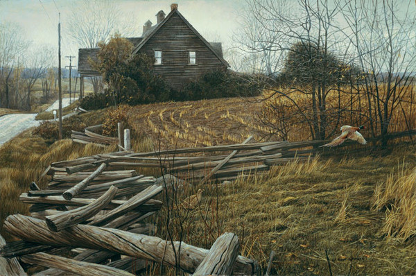 Robert z Bateman Pheasants at Dusk