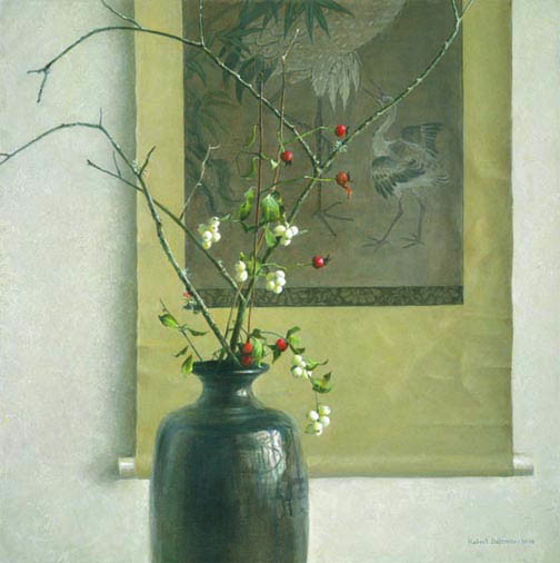 Robert z Bateman Still Life With Chinese Scroll