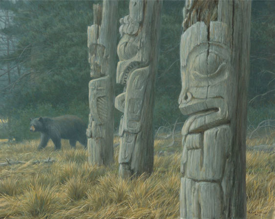 Robert z Bateman Totem and Bear