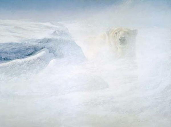 Robert z Bateman White Encounter – Polar Bear