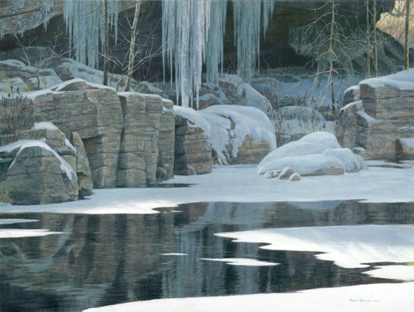 Robert z Bateman Winter Reflection