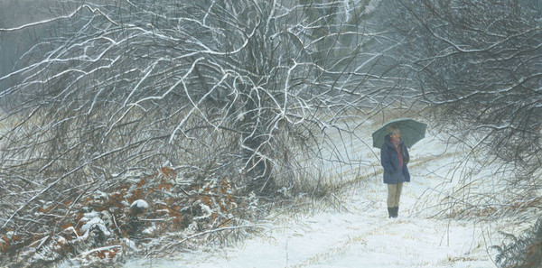 Robert z Bateman Winter Walk