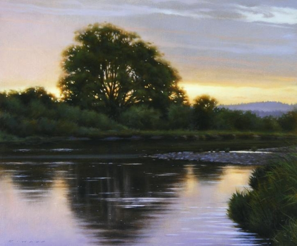 Ray z Ward River in Evening Light