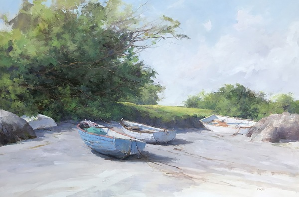 Four Boats on A Beach by Deborah Tilby