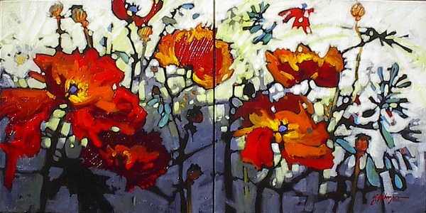 Wild and Wonderful (Diptych) by Gail Johnson