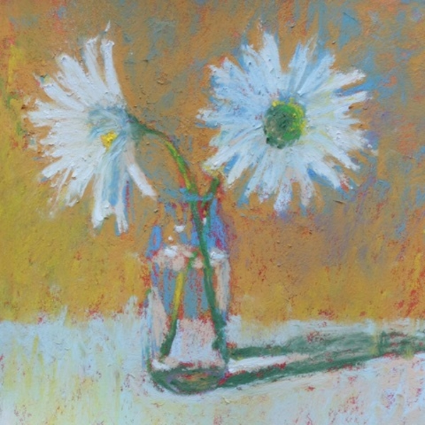 Two Daisies in a Glass