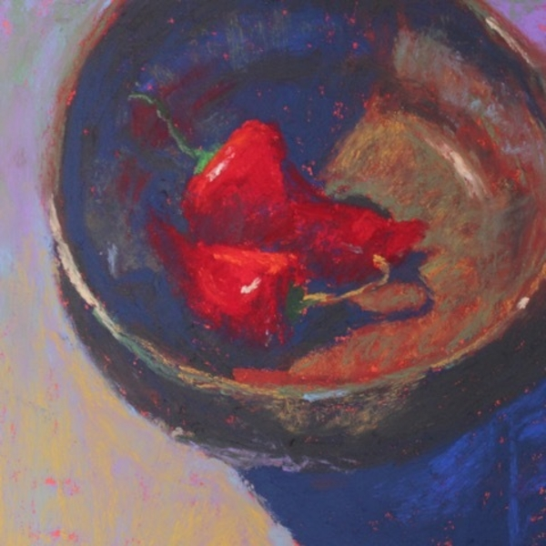 Gail z Sibley Two Peppers in a Bowl