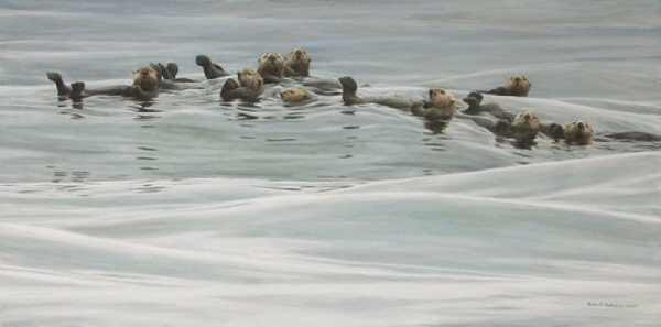 Robert z Bateman Raft of Otters